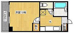 ル・パピヨン[4階]の間取り