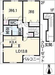 エッフェ・プリーマ[2階]の間取り