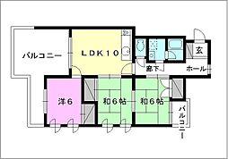 ホワイトマンション[305 号室号室]の間取り