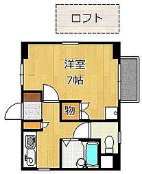 クレスト黒崎[301号室]の間取り