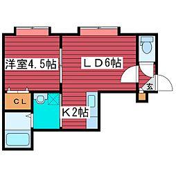 セレス2.6[2階]の間取り