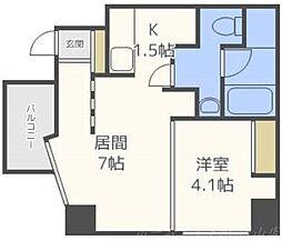 S−FORT北円山[6階]の間取り
