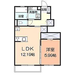 (仮)辻村アパート[106号室]の間取り