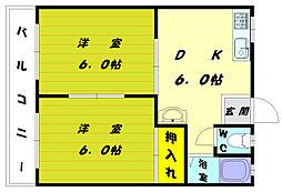高野アパートB[2階]の間取り
