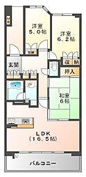 プラウド江坂[14階]の間取り