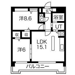 ピオーネ覚王山[203号室]の間取り