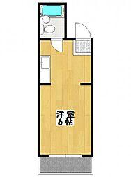 リンドール本八幡[4階]の間取り