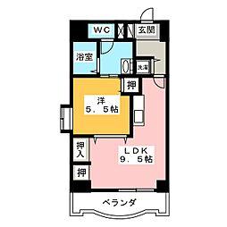 アップル第7マンション[9階]の間取り