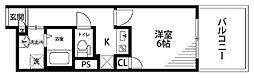 中之島ロイヤルハイツ[2階]の間取り