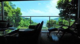 論より証拠。リビングからの眺めをご覧ください。熱海の奥座敷と呼ぶにも相応しいと思います。