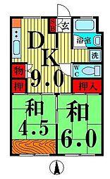 竹の塚駅前ビル[5階]の間取り