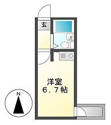 コーポ更科[2階]の間取り