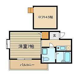 東京メトロ有楽町線 要町駅 徒歩5分の賃貸アパート 1階1Kの間取り
