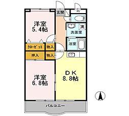 :サンフォーレ青葉台[3階]の間取り