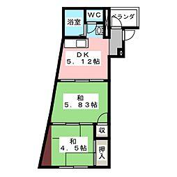 亀鶴ビル[3階]の間取り