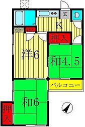 笹マンション[1階]の間取り