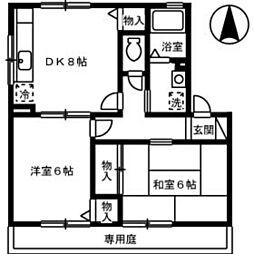 グリーンコーポ寺尾[1階]の間取り