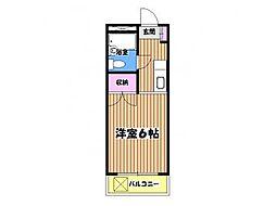 東京都八王子市滝山町1丁目の賃貸マンションの間取り