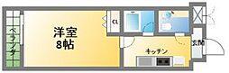 HF阿波座レジデンス[2階]の間取り