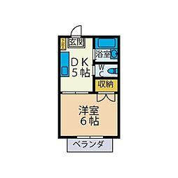 FUDAコーポ[2階]の間取り