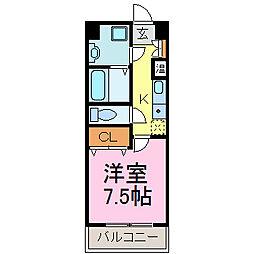 Blue Wing鯉江本町[205号室]の間取り