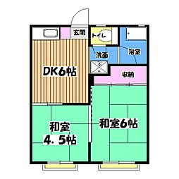 ハイツ恋ヶ窪[2階]の間取り