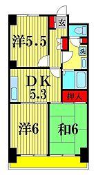 グランピニエール松戸[2階]の間取り