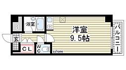 兵庫県神戸市灘区泉通5丁目の賃貸マンションの間取り
