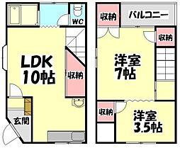 [テラスハウス] 大阪府堺市西区鳳南町2丁 の賃貸【/】の間取り