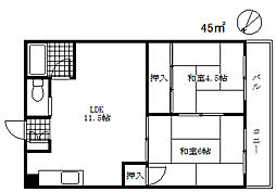 柴垣ビル[4階]の間取り