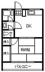 加藤第1ビル[202号室]の間取り