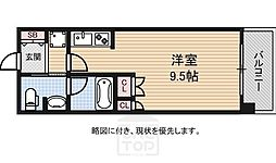 アスリート難波WEST[10階]の間取り