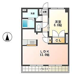 カンタ−ビレ[2階]の間取り
