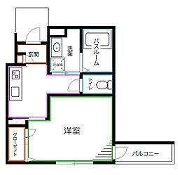 JR中央本線 阿佐ヶ谷駅 徒歩6分の賃貸アパート 1階1Kの間取り