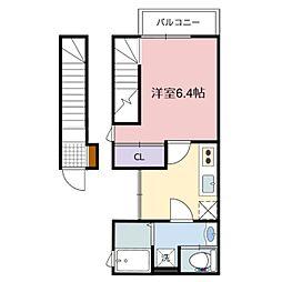 リープラス藤江[2階]の間取り