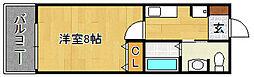 サンロージュ箱崎駅前[902号室]の間取り