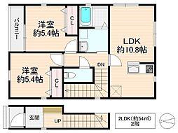 Gran・casa グラン・カーサ(仮名)[2階]の間取り