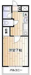 神奈川県大和市中央林間6の賃貸マンションの間取り