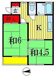ドエルタカハシ[1階]の間取り