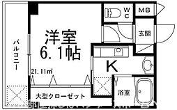 大阪府枚方市長尾台1丁目の賃貸マンションの間取り