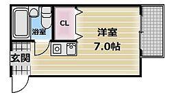 プレアール布施[3階]の間取り