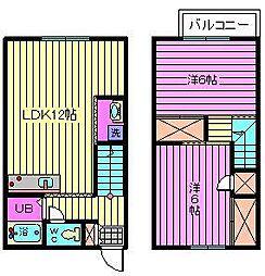 [テラスハウス] 埼玉県さいたま市緑区原山3丁目 の賃貸【/】の間取り