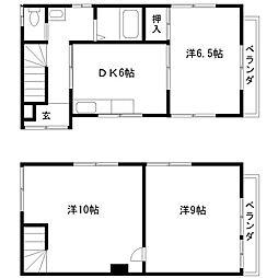 [一戸建] 千葉県船橋市三山3丁目 の賃貸【/】の間取り