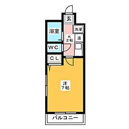 アクタス博多[4階]の間取り