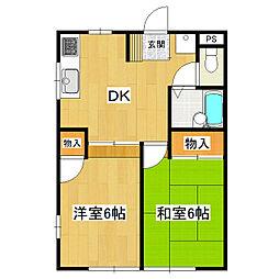 青芳コーポ[1階]の間取り