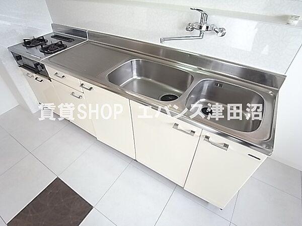 千葉県船橋市前原西6丁目の賃貸マンションの使いやすいキッチンです