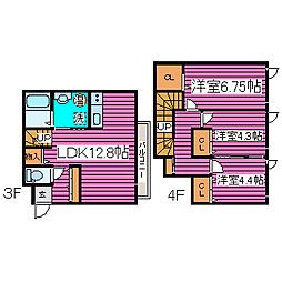 北海道札幌市北区新川六条16丁目の賃貸マンションの間取り