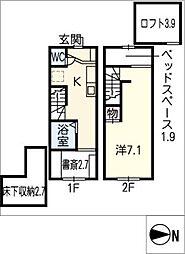 [タウンハウス] 愛知県半田市青山4丁目 の賃貸【/】の間取り