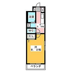 静岡県浜松市中区高丘北2丁目の賃貸マンションの間取り