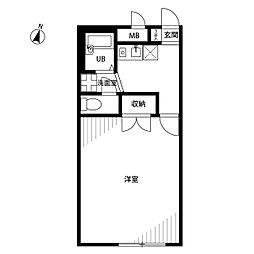 アムール 長坂弐番館1階Fの間取り画像